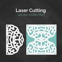Laser geschnittene Karte. Vorlage zum Schneiden. Ausschnitt-Illustration.