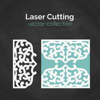 Laser Cut Card. Mall för skärning. Cutout Illustration.