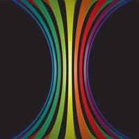 Färgglada linjer i 3D på svart bakgrund, vektor illustration