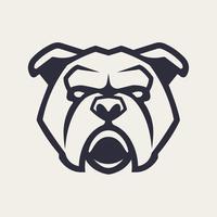 Bulldogge Maskottchen Vektor Icon