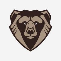 björn maskot vektorikonen