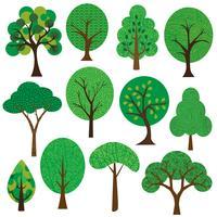 Texturierte Bäume Clipart