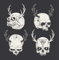horned skallar vektor