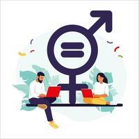 Konzept der Geschlechtergleichstellung. vektor