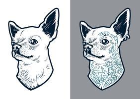 Chihuahua-Vektor-Hund