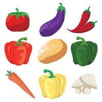 Gemüsesymbole gesetzt vektor