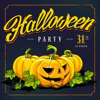 Halloween-Einladungskarten-Vektor-Design