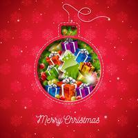 Abbildung der frohen Weihnachten