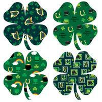St. Patrick's Day gemusterte Kleeblätter vektor