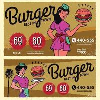retro design meny restaurang eller diner mall vektor