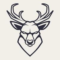 Hirsch-Maskottchen-Vektor-Symbol