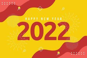 Frohes neues Jahr 2022 Banner-Vorlage. vektor