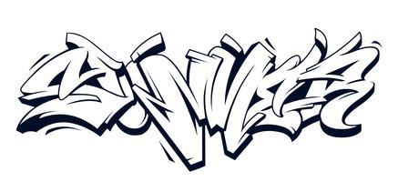Sommer-Graffiti-Vektor-Beschriftung