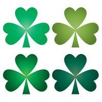 St. Patrick's Day Farbverlauf Kleeblätter vektor