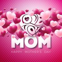Lycklig mors dag hälsningskortdesign vektor
