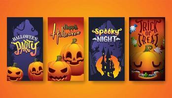Halloween-Hintergrund, Halloween-Party-Vektorillustration vektor