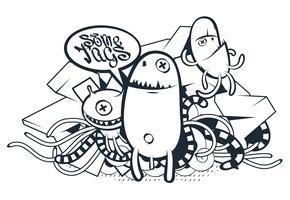 Graffiti-Gekritzel-Kunst