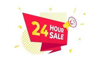 24-Stunden-Sale-Countdown-Band-Abzeichen-Symbol vektor