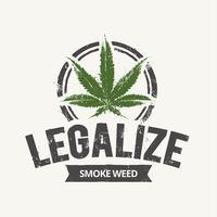 Cannabis-Emblem vektor