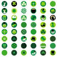 St. Patricks Day ein Zoll Kreise vektor