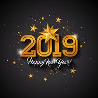Gott nytt år 2019 Illustration vektor