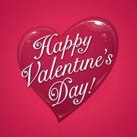 Valentinstag Typografie vektor