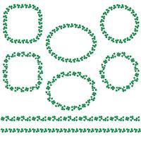 Saint Patrick's Day Shamrock ramar och gränser vektor