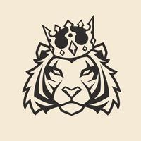 Tiger i Crown Vector Mascot