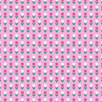 Tulpenmuster auf rosa Hintergrund vektor
