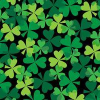 St. Patrick's Day überlappendes Kleemuster vektor