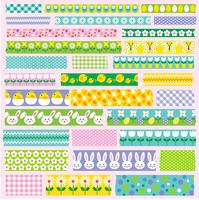 Ostern Washi Tape Clipart vektor