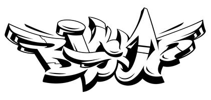 Große hohe Graffiti-Vektor-Beschriftung