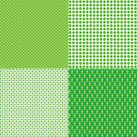 Saint Patricks dag polka dot mönster