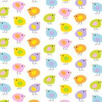 Pastell Ostern Baby Küken Hintergrundmuster vektor