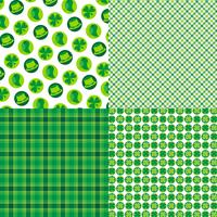 Saint Patrick's Day plaids och mönster vektor