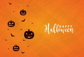 Lycklig Halloween banner illustration vektor