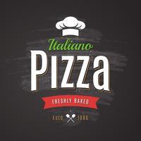 Pizza-Vektor-Emblem
