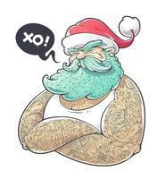 hipster claus