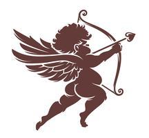 Vektor Cupid Silhuett