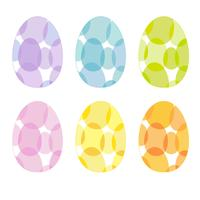 transparentes Muster Ostereier