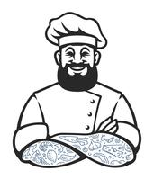 Hipster Chef Vektor Icon