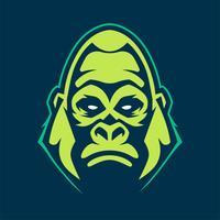 gorilla maskot vektorikonen vektor