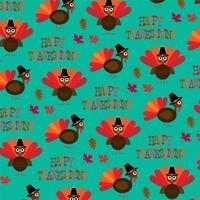 kalkon Thanksgiving mönster