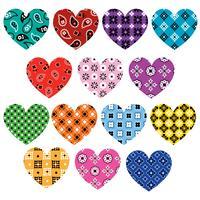 bandana hjärtan grafik