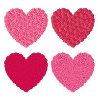 rosa hjärtan vektor