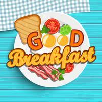 engelsk frukost vektor