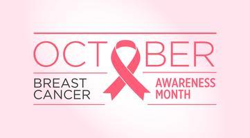 Brustkrebs. Bewusstseinsmonatsfahne