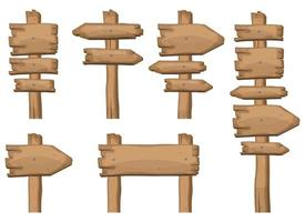 Holzschilder in verschiedenen Formen Vektor-Illustration vektor