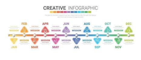 Infografiken den ganzen Monat Planer Design vektor