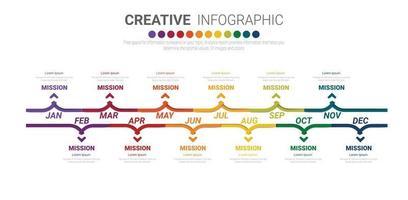 Jahresplaner Infografiken Design Vektor